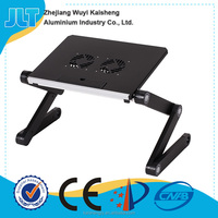 Foldable and changable height laptop table writing desk
