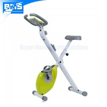 Folding upright exercise bike with magnetic resistance