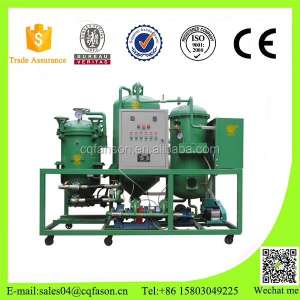 Vacuum treatment used transformer oil recycling machine