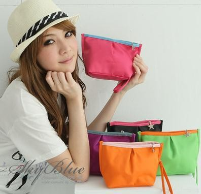 Hotsale new design lady bags cute PVC woman Cosmetic bag wallet small bag