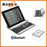 360 degree rotation aluminum wireless bluetooth keyboard case for ipad 2/3/4