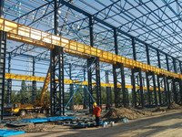 Large tonnage buildings heavy steel structure for workshop warehouse in Urumqi City China