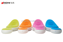 OEM Customized Inflatable flocked lounger Air Sofa