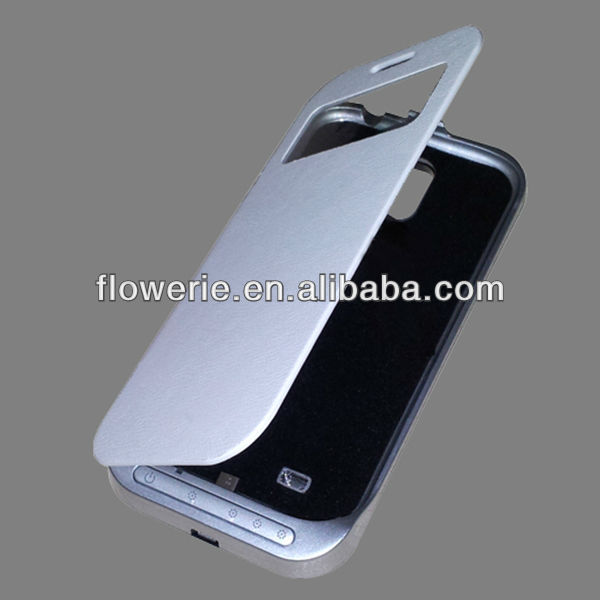 FL2202 2013 Guangzhou hot selling stand backup battery wallet flip case for samsung galaxy s4 i9500