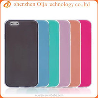 Olja doule color soft TPU case for iphone 6, for iphone 6 high quality case, factory price tpu case for iphone