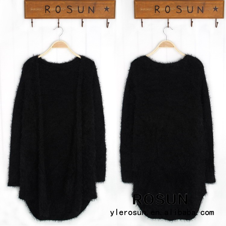 European comfortable design fashion classic black cardigan sweater tops outwear coat