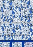 White 100% Polyester Rigid All-Over Raschel Lace