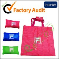 supermarket zipper folding nylon tote bag