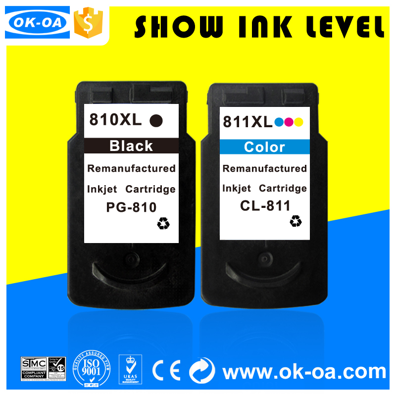 new version compatible inkjet cartridges for canon pg 810 cl811 ink cartridge