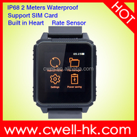 IP68 Waterproof Smart Watch Phone Support Micro SIM card Heart Rate Monitor Compatible with iOS & Android Sultra W08 Unlocked