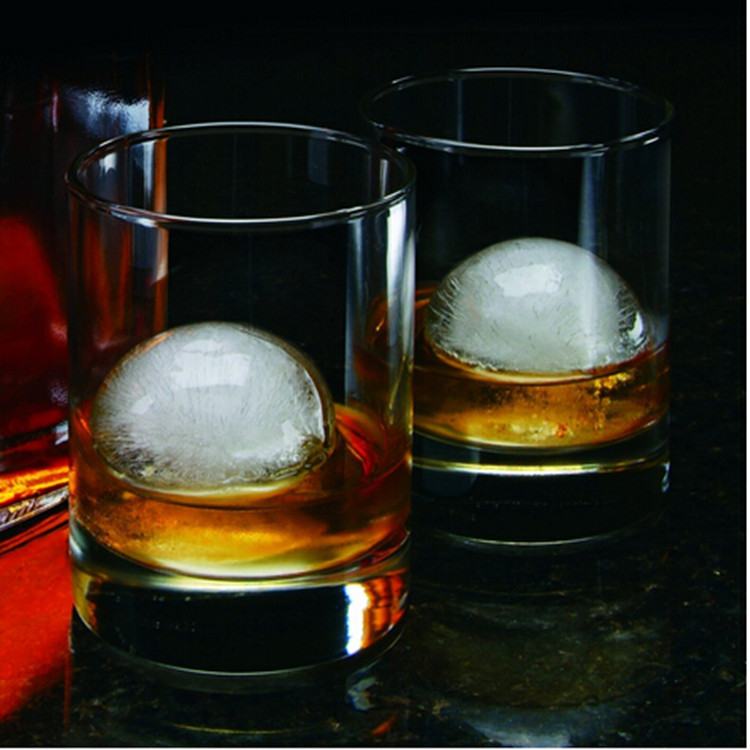 Complete Ice Ball Maker Mold - 4 Whiskey Ice Balls - Premium Round Spheres Tray