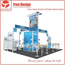 Yota offer BOG Fast island 6mx6m Free Design Fair Booth for Exhibition