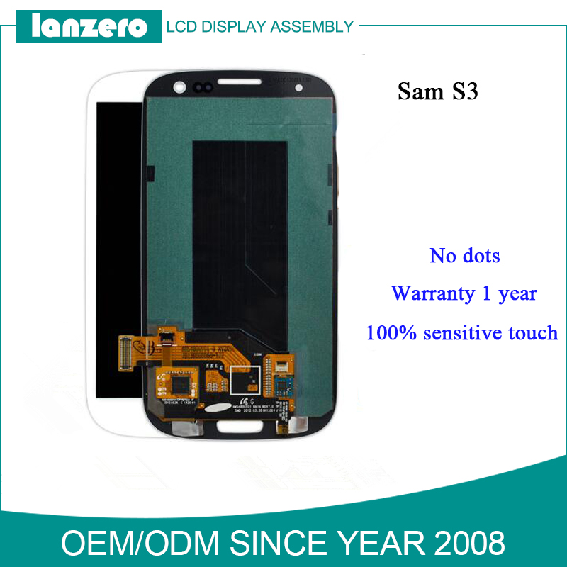 Cell Phone Parts Touch Digitizer Assembly Lcd Screen for Samsung Galaxy S3