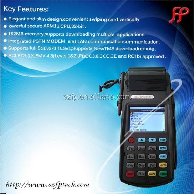 EMV wireless mobile payment POS terminal with thermal printer 58mm billing machine for hotels