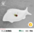 Restaurant white porcelain different size fish plate with fish shape design