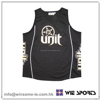 High Quality factory price trendy mens 100% polyester moisture wicking performance motorcycle tank