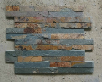 Cheap Rusty Slate Panel Slate Culture Stone 400*100mm