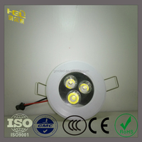 Recessed Dimmable Mini LED 80mm Cut Out Downlights High Power 3W