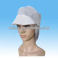 disposable nonwoven peaked snood cap