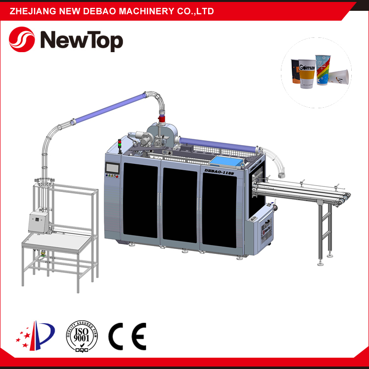 NewTop 2016 Hot Selling Quality And Quantity Assured Medium Speed Paper Coffee Cup Making Machine Germany