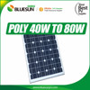 Quality Guarantee 40W solar cells Modules 30V with 25year warranty