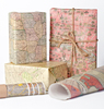 Victor Crafts festival present package wrap glossy paper with print Historic Maps Wrapping Paper