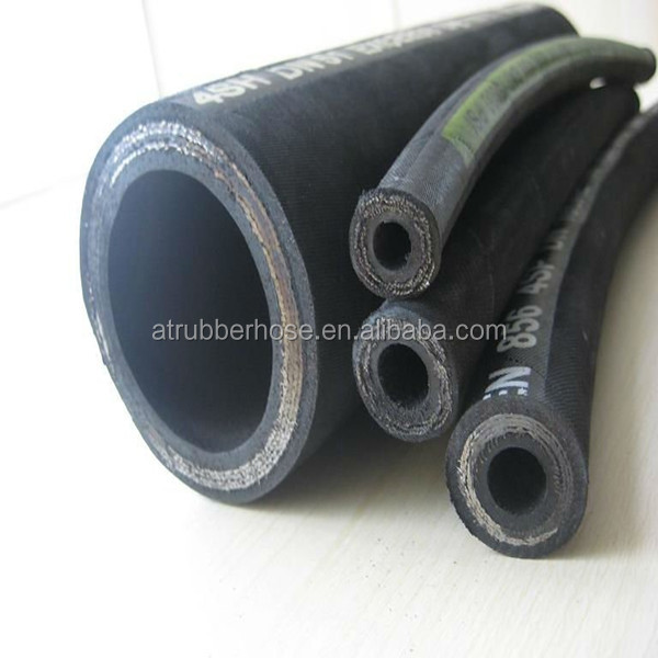 high temperature high pressure SAE100 R2 flexible steam rubber hose