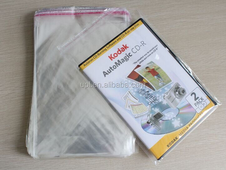 DVD PP sleeves self-sealing wrapping bags factory