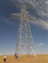 Hot galvanized 220kv transmission line towers
