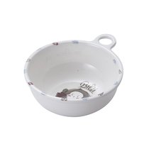 Promotion high quality plastic bowl with handle for kids tableware