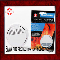 Battery Powered Photoelectric Smoke Alarm Fire Detector CE ROHS EN 14604