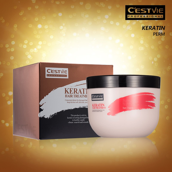 CESTVIE Keratin Private label deep nutrition infusing argan oil hair mask, hot sell mud hair mask