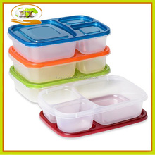 3 Compartment Food Containers with Lids, Bento Lunch Box, Reusable
