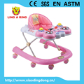 2016 Baby walker new models with music and light Height adjustable baby musica walker baby walker with 8 wheels