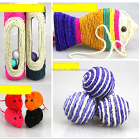 Wholesale retail latest design sisal fish shaped cat scratcher crochet cat toy