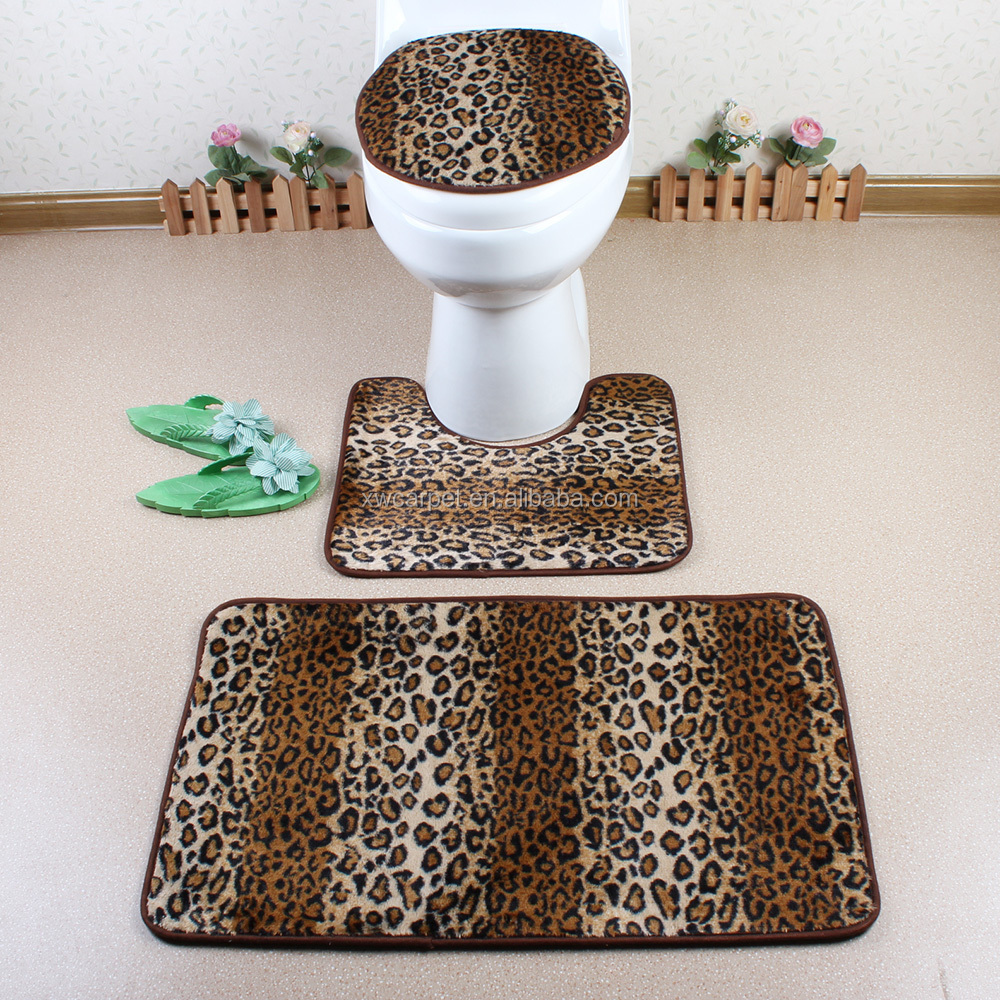 3 piece bathroom rug