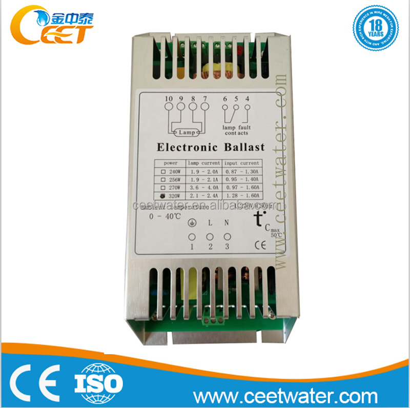 Metal case T5 320W electronic ballast for uv lamp