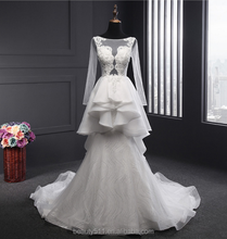 New Fashion Strapless Top Quality long sleeve Wedding Dress/Gown/wear Bridal Gown/Dress TS222