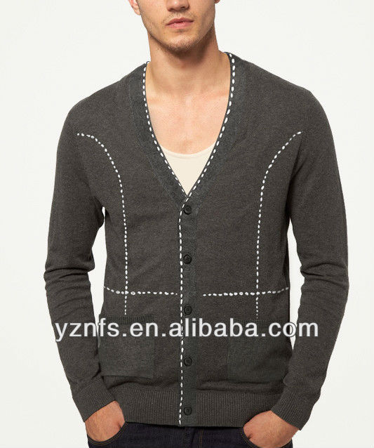 2013 Fashion Knitted new desgin autumn coat Man shirts