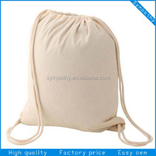 2014 shopping recycle natural boho cheap promotional bulk custom drawstring cotton bag