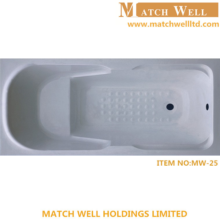 simple solid surface acrylic clawfoot bathtub for bathing