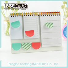 LOOKING Spiral-bound Desktop Calendar