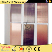 cheap 304 stainless steel sheet hairline with pvc in china