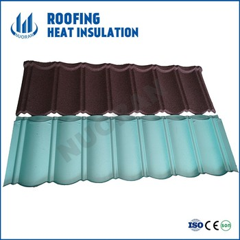 Nuoran lightweight material roofing colorful steel roofing tile