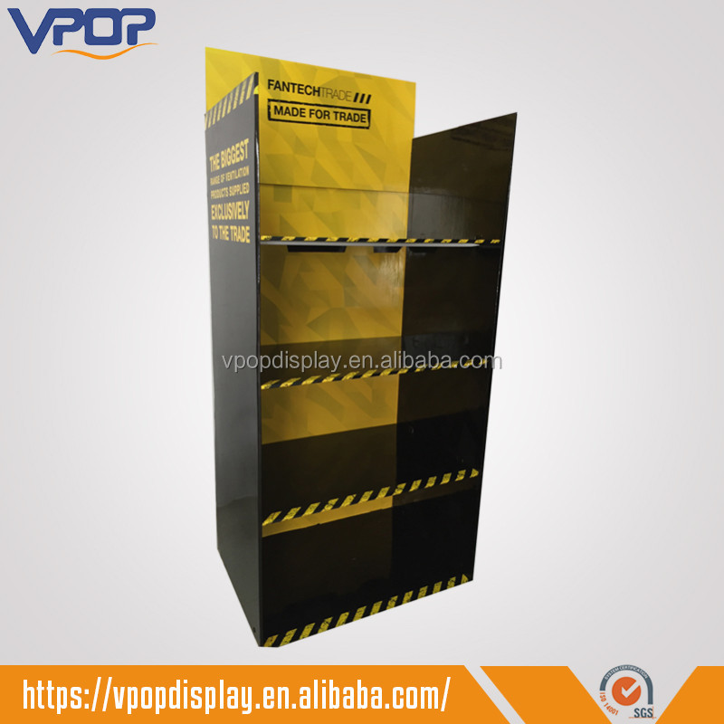 Pop Cardboard Trade Show Product Display Stands with 4 Shelves