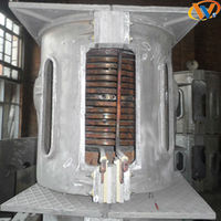 China supplier industriaL 5T capacity IF induction melting furnace(Steel shell)