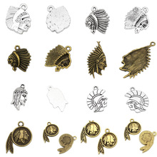 China Factory Fashionable Native American Indian Chief Spartan Jesus Head Pendants Charms For Bracelets Necklaces on Alibaba.com