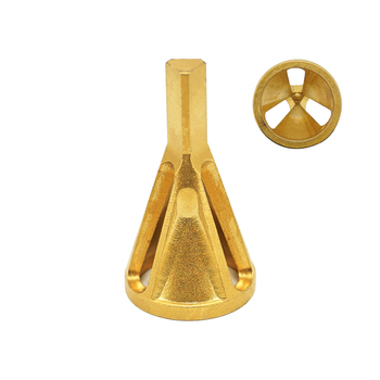 TiN Coating Tri-Flat External Deburring Chamfering Tool for Remove Burrs from Bolts and Stud