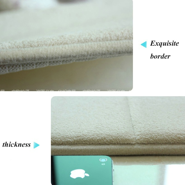 Custom design home decorative memory foam rug bathroom carpet