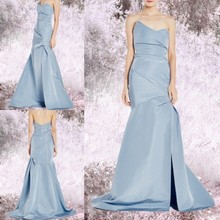 New Arrival Fairy Long Floor Length Blue Evening Dress